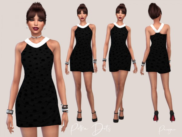 The Sims Resource: Polka Dots Dress by Paogae