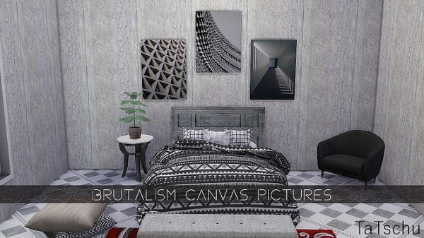 Blooming Rosy: Brutalism Canvas Pictures