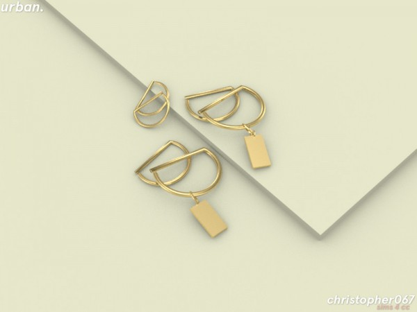 The Sims Resource: Urban Earrings by Christopher067