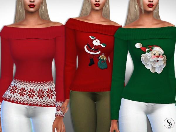 The Sims Resource: Santa XMas Pullovers by Saliwa