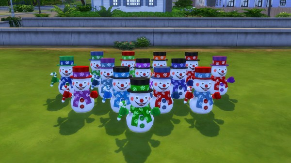 Mod The Sims: Happy snowman by hippy70