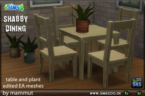 Blackys Sims 4 Zoo: Shabby Dining by mammut