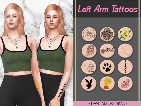Descargas Sims: Right Arm Tattoos