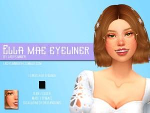 Chloe Lukasiak Makeup: Black Eyeshadow, Nude Eyeshadow
