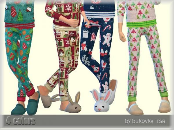 The Sims Resource: Christmas Pants by bukovka