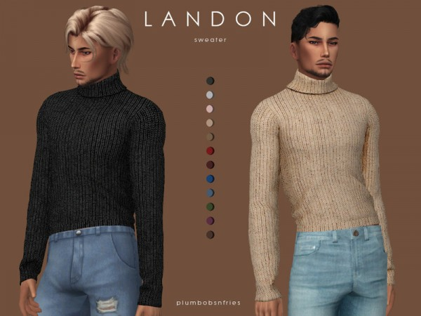 The Sims Resource: Landon sweater by Plumbobs n Fries