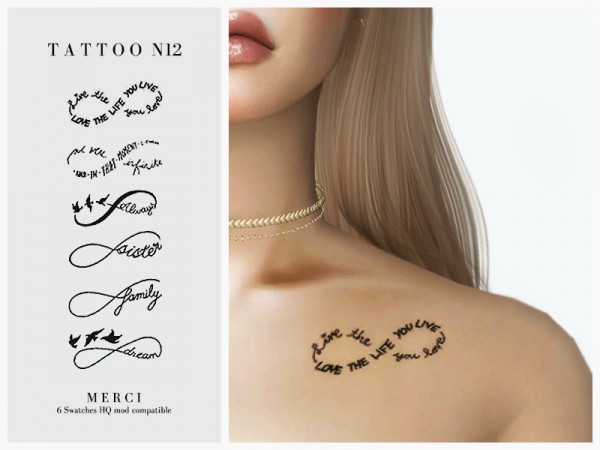The Sims Resource: Tattoo N12 by Merci