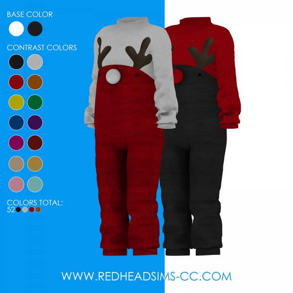 Red Head Sims: Moose onesie