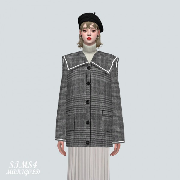 SIMS4 Marigold: Lovely Sailor Midi Coat