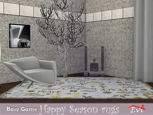 The Sims Resource: Happy season rugs by evi