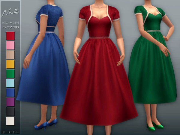 The Sims Resource: Noelle Dress by Sifix