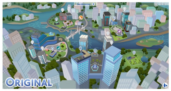 Mod The Sims: San Myshuno Map Override by Menaceman44