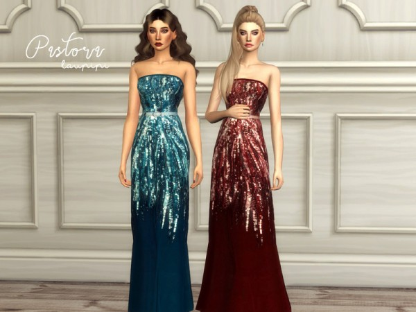 The Sims Resource: Pastora dress by laupipi