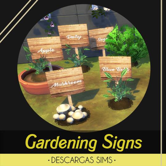 Descargas Sims: Gardening Signs