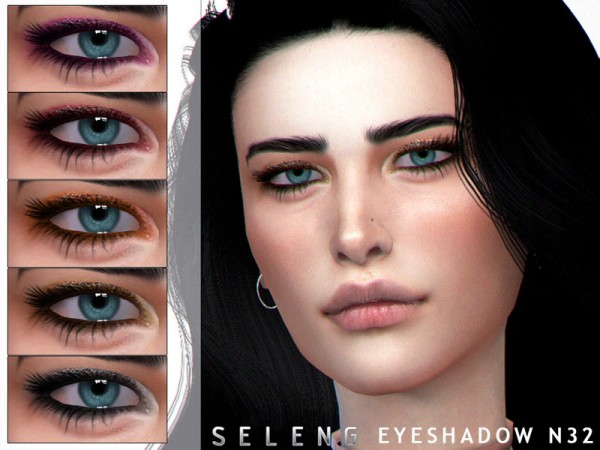 The Sims Resource: Eyeshadow N32 by Seleng