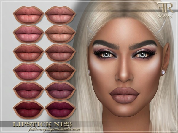 The Sims Resource: Lipstick N123 by FashionRoyaltySims