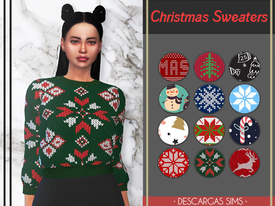 Descargas Sims: Christmas Sweaters