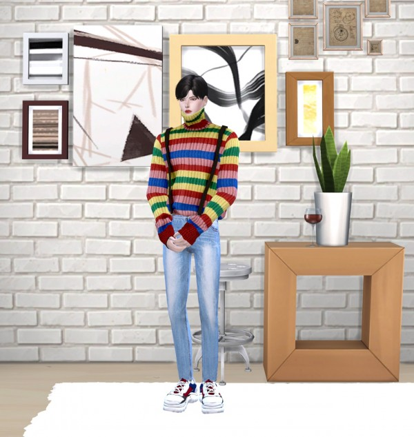 Chaessi: Turtleneck knit