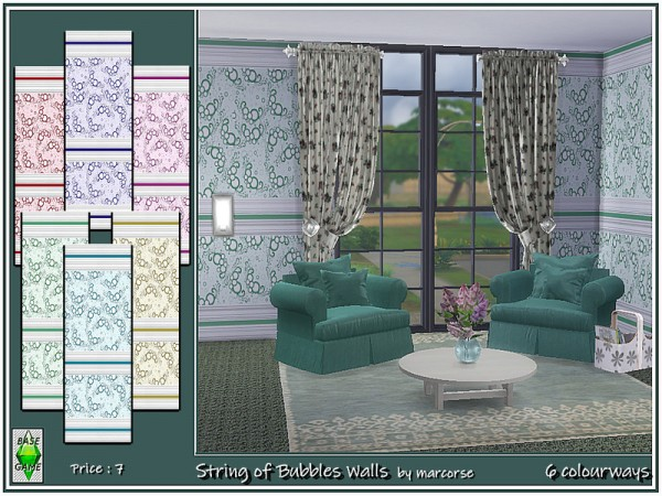 The Sims Resource: String of Bubbles Walls by marcorse