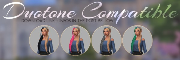 Candy Sims 4: Lotus Hair