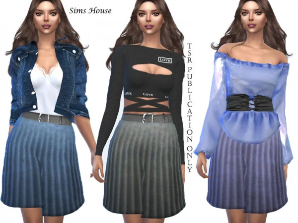 The Sims Resource: Pleated skirt by Sims House