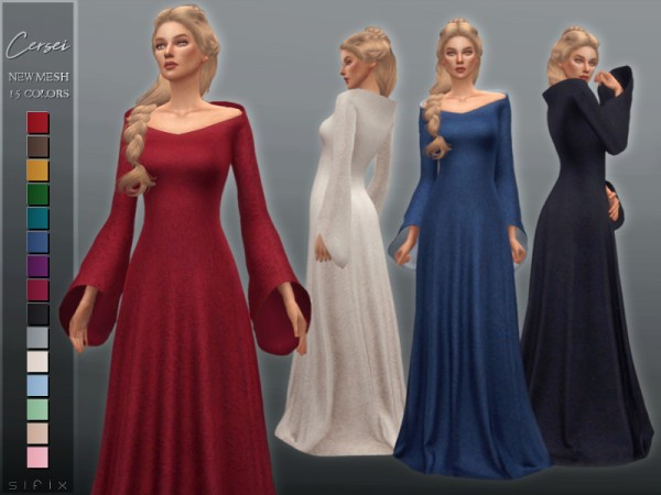 The Sims Resource: Cersei Dress by Sifix