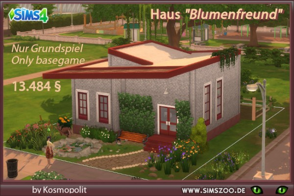 Blackys Sims 4 Zoo: Flowers friend house by  Kosmopolit