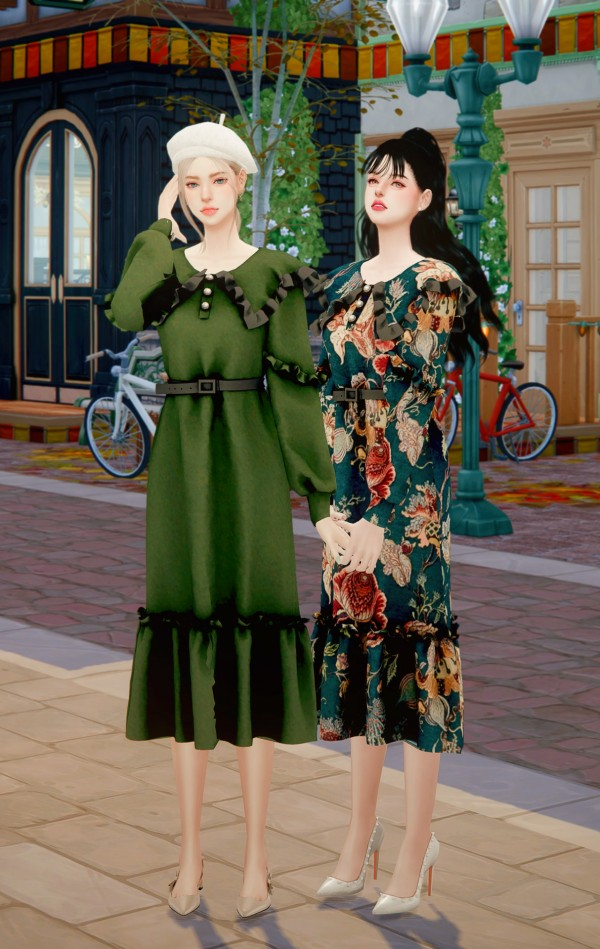 Rimings: Frill Collar Rong Dress