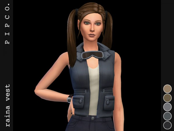 The Sims Resource: Raina vest by Pipco