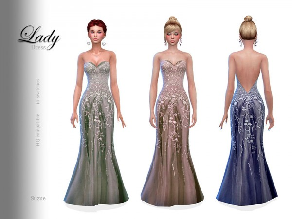 The Sims Resource: Lady Dress by Suzue