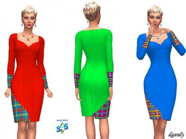 The Sims Resource: Holiday Dress 20191209 by dgandy