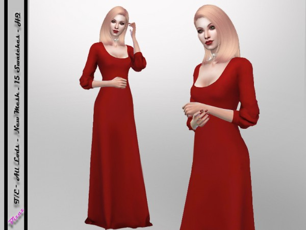 The Sims Resource: Full Gown by pizazz