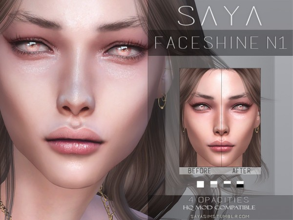 The Sims Resource: Faceshine N1 by SayaSims