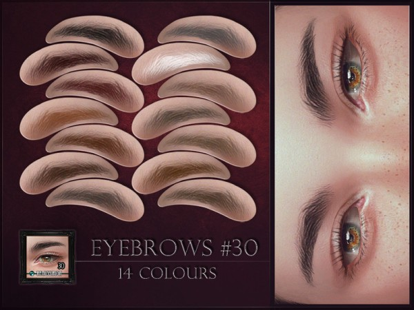 The Sims Resource: Eyebrows 30 by RemusSirion