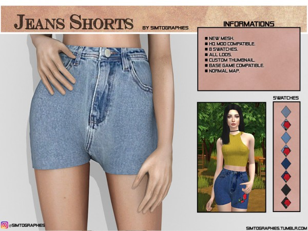 Simtographies: Mom Short Jeans