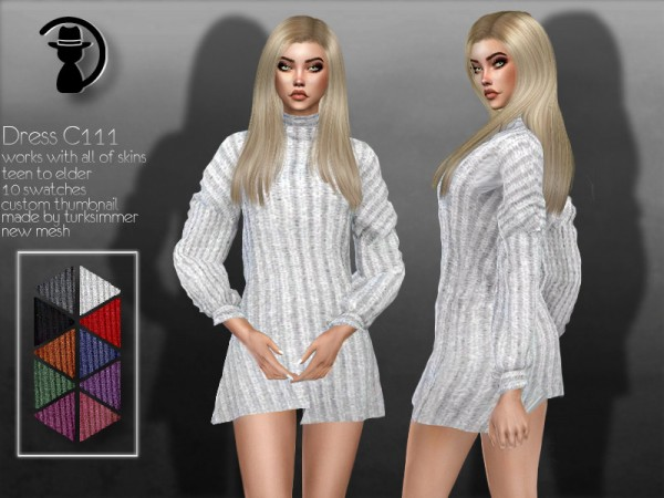 The Sims Resource: Dress C111 by turksimmer