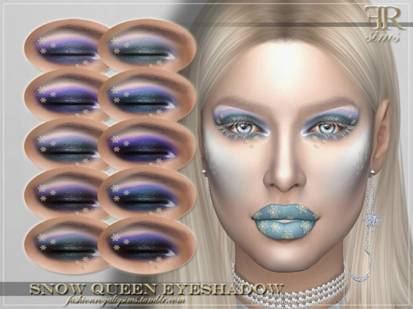 The Sims Resource: Snow Queen Eyeshadow by FashionRoyaltySims