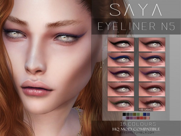 The Sims Resource: Eyeliner N5 by SayaSims