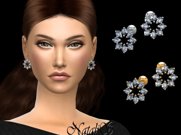 The Sims Resource: Winter star stud earrings by NataliS