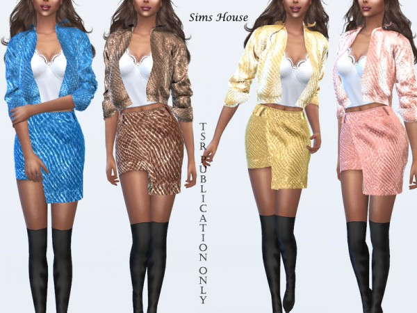 The Sims Resource: Metallic Skirt by Sims House