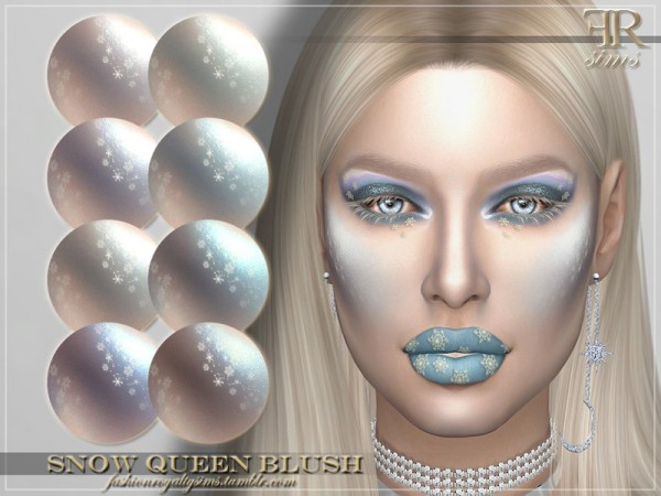 The Sims Resource: Snow Queen Blush by FashionRoyaltySims