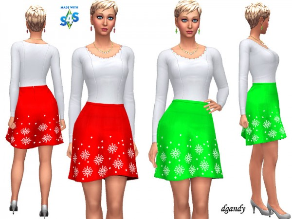 The Sims Resource: Holiday Outfit   20191208 by dgandy