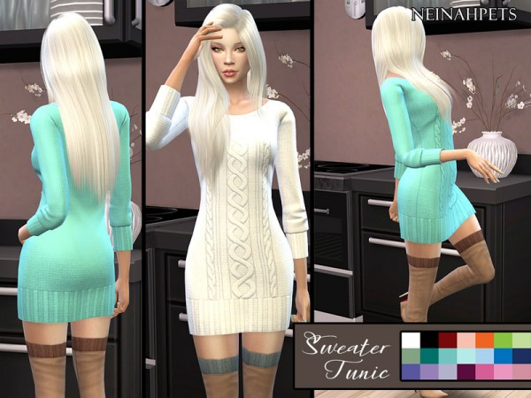 The Sims Resource: Sweater Tunic   Solid by neinahpets