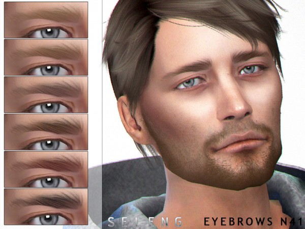 The Sims Resource: Eyebrows N41 by Seleng