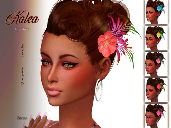 The Sims Resource: Kalea Headdress by Suzue