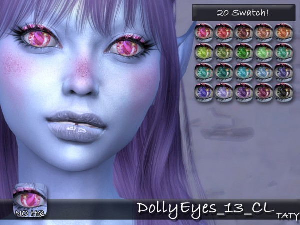 The Sims Resource: Dolly Eyes 13 by Taty