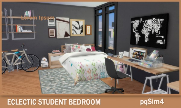 PQSims4: Eclectic Student Bedroom