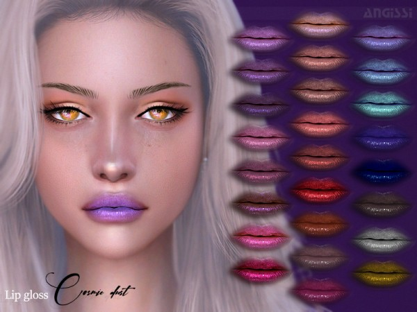 The Sims Resource: Lip gloss   Cosmic dust by ANGISSI