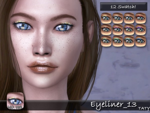 The Sims Resource: Eyeliner 13 by Taty