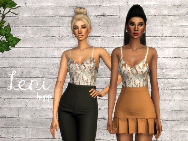 The Sims Resource: Leni Top by laupipi